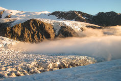Low Clouds on the Glacier Stock Images