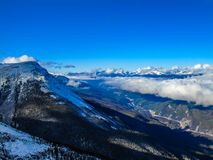 Whistlers Mountain, Jasper National Park, Alberta, Canada stock image