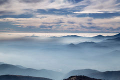 Low clouds in the mountain Stock Image
