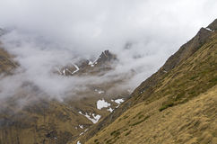 Low clouds in the mountains. Stock Image