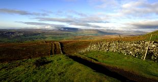 Low clouds over Ingleborough Stock Image