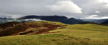 Low clouds over Skiddaw Royalty Free Stock Image