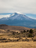 Low clouds at peak of Mt. Shasta Royalty Free Stock Images