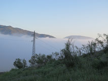 Low Clouds in Valley. Early morning Low Clouds in Valley in Andalusia stock image