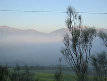 Low Clouds in Valley. Early morning Low Clouds in Valley in Andalusia stock images
