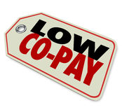 Low Co-Pay Insurance Deductible Affordable Health Care Stock Photo