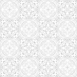 Low contrasting vintage ornament, gray drawing on white background. Repeating filigree geometric patterns in victorian style. Royalty Free Stock Photo