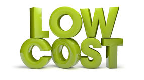 Low cost. Render of the text low cost Stock Photography