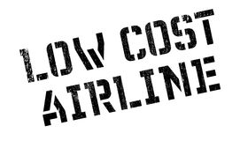 Low Cost Airline rubber stamp Royalty Free Stock Photography
