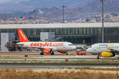 Low cost airlines Easyjet and Vueling Stock Images
