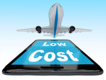 Low Cost Flight concept Stock Photography