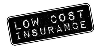 Low Cost Insurance rubber stamp Stock Photo