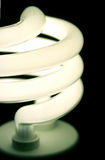 Low Cost Light. A closeup of an energy saver compact flourescent light bulb Stock Image