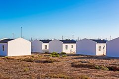 Low cost RDP housing, South Africa. Low cost RDP housing units built in Western Cape, South Africa stock photography