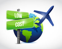 low cost travel globe illustration design Royalty Free Stock Photography