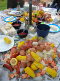 Low country boil. Summertime food low country boil Stock Photos