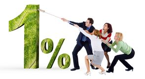 Low credit interest rate. Business people easing banking interest on credit rate percentage stock image