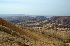 Low desert Mountains  Sinai in Jordan Royalty Free Stock Image