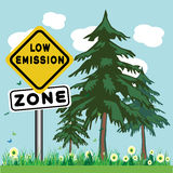 Low emission zone Stock Images