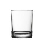 Low empty glass isolated on white with clipping path Royalty Free Stock Photos