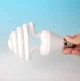 Low-energy light bulb Royalty Free Stock Image