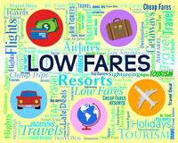 Low Fares Indicates Reduction Costs And Travel Stock Photography