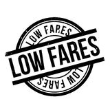 Low Fares rubber stamp Royalty Free Stock Photos
