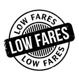 Low Fares rubber stamp Royalty Free Stock Images