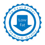 Low fat badge. Vector illustration Royalty Free Stock Images
