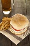 Low fat burger fries Stock Photos