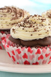 Low fat chocolate cupcakes Stock Image