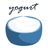 Low fat plain yogurt  illustration Royalty Free Stock Photo