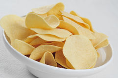 Low fat potato chips Royalty Free Stock Images
