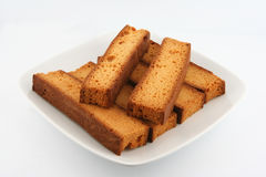 Low fat rusk. For breakfast with tea Royalty Free Stock Image