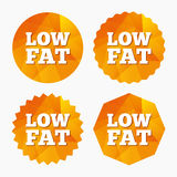 Low fat sign icon. Salt, sugar food symbol. Royalty Free Stock Photography