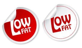 Low fat stickers. With shadow Royalty Free Stock Photos
