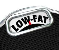 Low-Fat Words Scale Nutritional Food Choice Snacks Royalty Free Stock Images