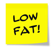Low Fat Yellow Sticky Note Stock Photography
