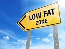 Low fat zone sign. On blue sky background,3d rendered Royalty Free Stock Photos