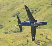 Low Flying. Aircraft in Wales Stock Photography