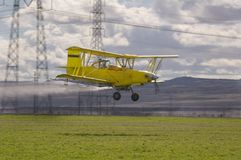 Low flying crop duster Royalty Free Stock Image