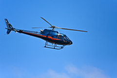 Low Flying Helicopter Stock Image