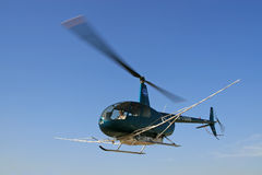 Low-flying helicopters Stock Photo