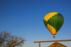 Low Flying Hot Air Balloon Stock Image