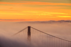 Low fog at Golden Gate Bridge San Francisco Royalty Free Stock Photo