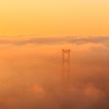 Low fog at Golden Gate Bridge San Francisco Royalty Free Stock Photo