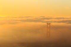 Low fog at Golden Gate Bridge San Francisco Stock Photo