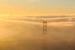 Low fog at Golden Gate Bridge San Francisco Stock Photos