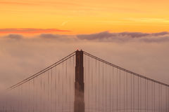 Low fog at Golden Gate Bridge San Francisco Royalty Free Stock Image
