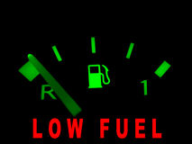 Low fuel alarm royalty free illustration
